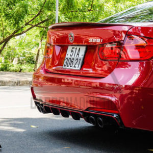 F30 M-Performance Style Carbon Quad Rear Diffuser 4