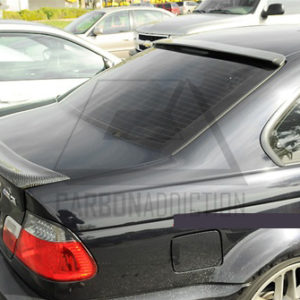 2000-2006 BMW E46 3 Series 2D Coupe & M3 CSL Style Trunk Spoiler CF (15)