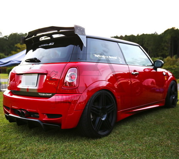 mini cooper r56 duell ag style carbon roof spoiler – carbon addiction