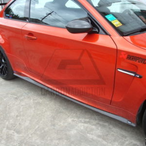 2010-2012 BMW 1M Coupe Revozport Style Side Skirts FRP with Portion CF (16)