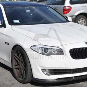 2010-2013 BMW 5 Series F10 F18 Sedan Hamann Style Front Lip CF (3)