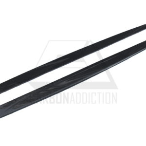 2014-2017 BMW F82 F83 M4 M Performance Style Side Skirt Extension Under Board CF (6)