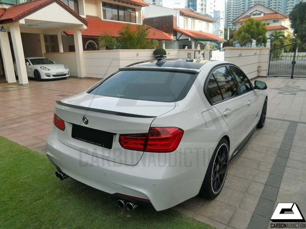 Bmw F30 Ac Schnitzer Style Carbon Roof Spoiler Carbon