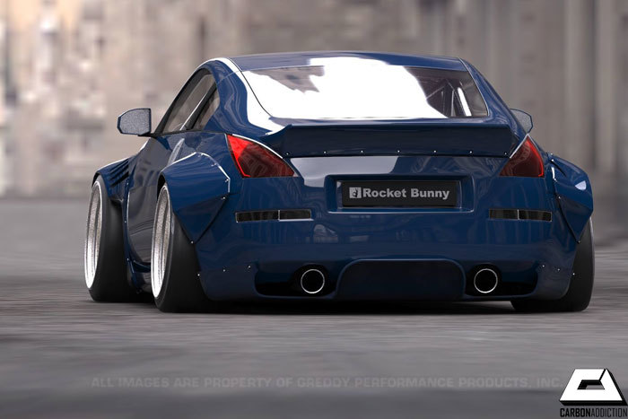 Nissan 350Z Rocket Bunny Style Rear Diffuser – Carbon Addiction