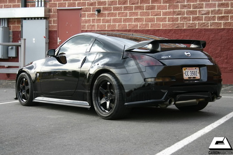 nissan 350z nismo v1 style carbon rear spoiler carbon addiction. Black Bedroom Furniture Sets. Home Design Ideas