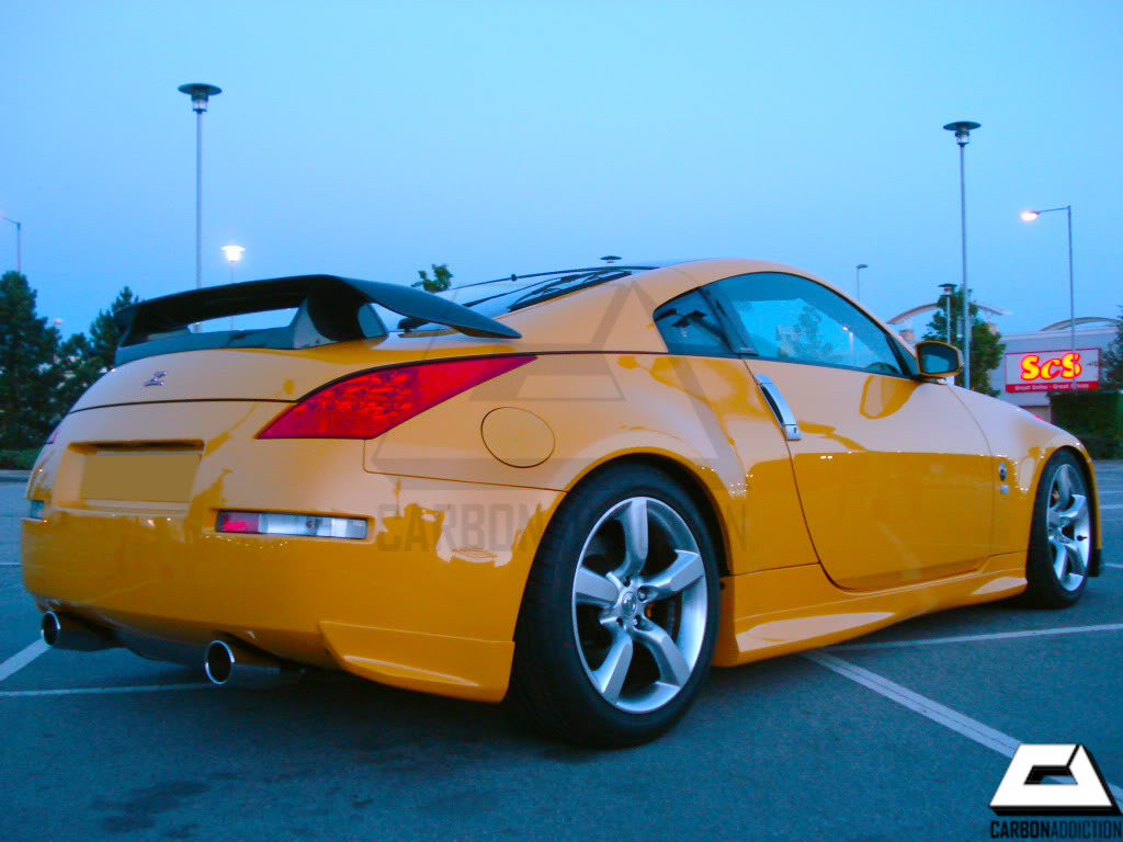 nissan 350z nismo style carbon rear spats carbon addiction. Black Bedroom Furniture Sets. Home Design Ideas
