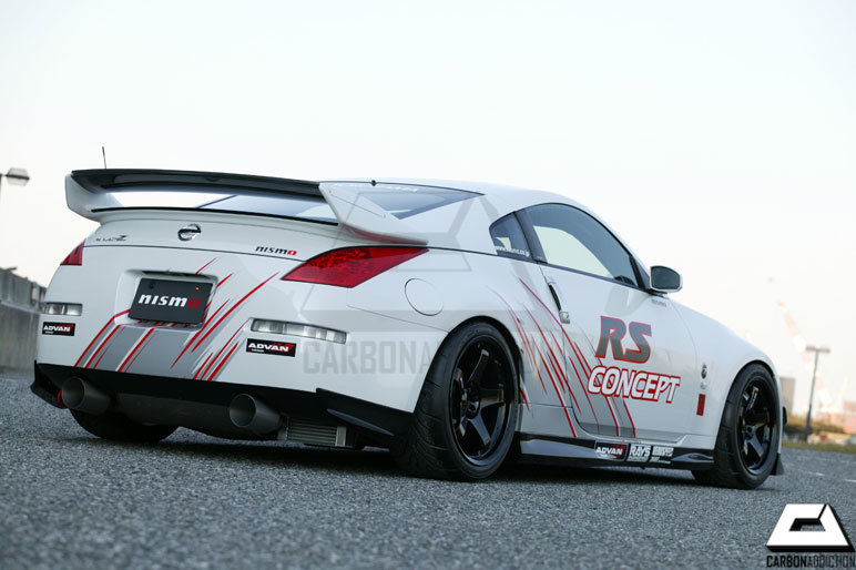 Nissan 350z Nismo V2 Style Carbon Rear Spoiler Carbon Addiction