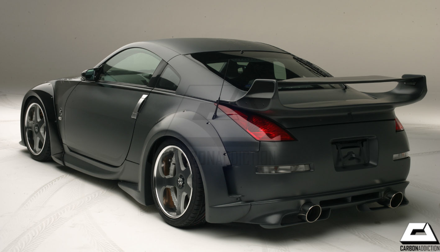 nissan 350z veilside v3 style carbon rear spoiler carbon addiction. Black Bedroom Furniture Sets. Home Design Ideas