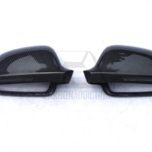 2008-2012 Audi A4 B8 Side Mirror Cover Caps Frame Replacement CF (3)