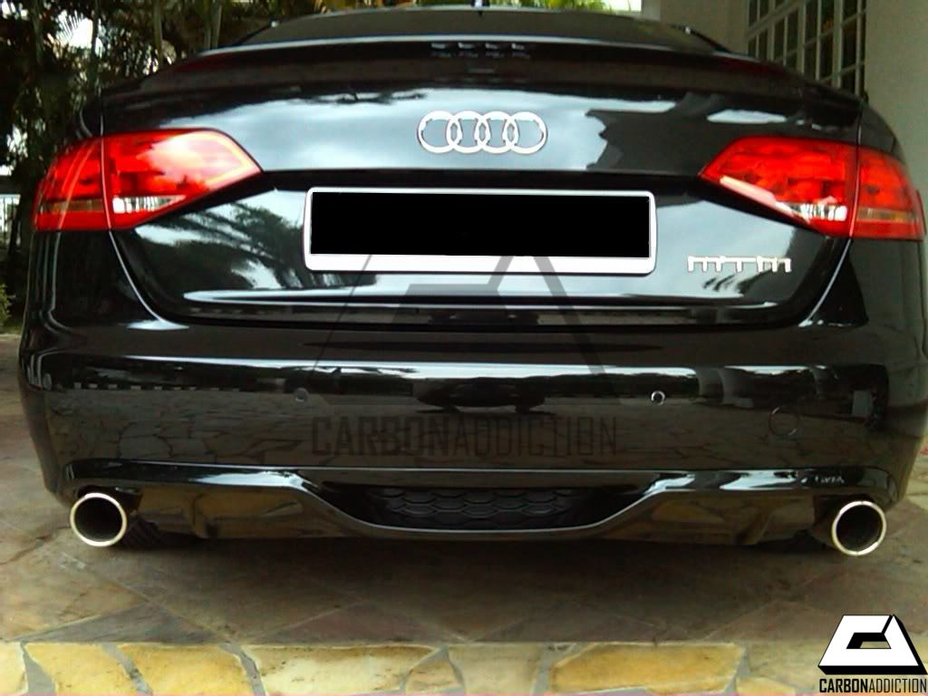 audi a4 b8 caractere style carbon rear diffuser carbon. Black Bedroom Furniture Sets. Home Design Ideas