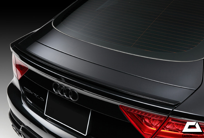 audi a7 wald style rear spoiler carbon addiction. Black Bedroom Furniture Sets. Home Design Ideas