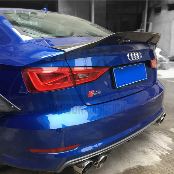 audi s3 8v renntech style carbon rear spoiler carbon addiction. Black Bedroom Furniture Sets. Home Design Ideas