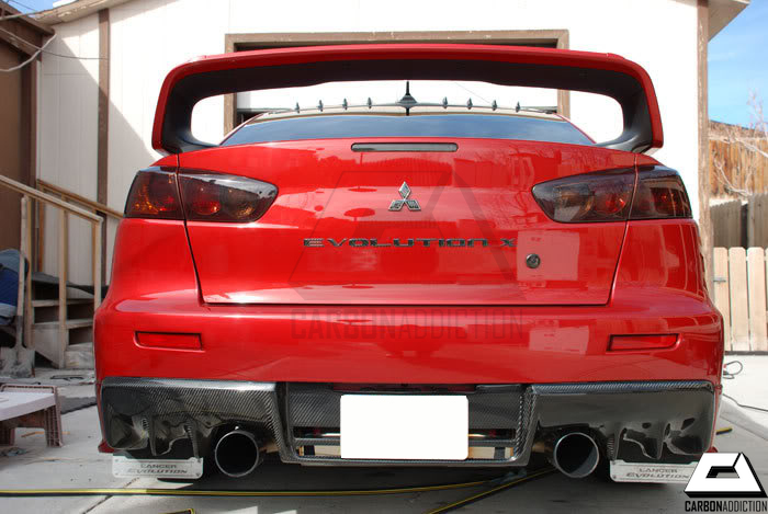 mitsubishi evo x oem style carbon rear diffuser carbon. Black Bedroom Furniture Sets. Home Design Ideas