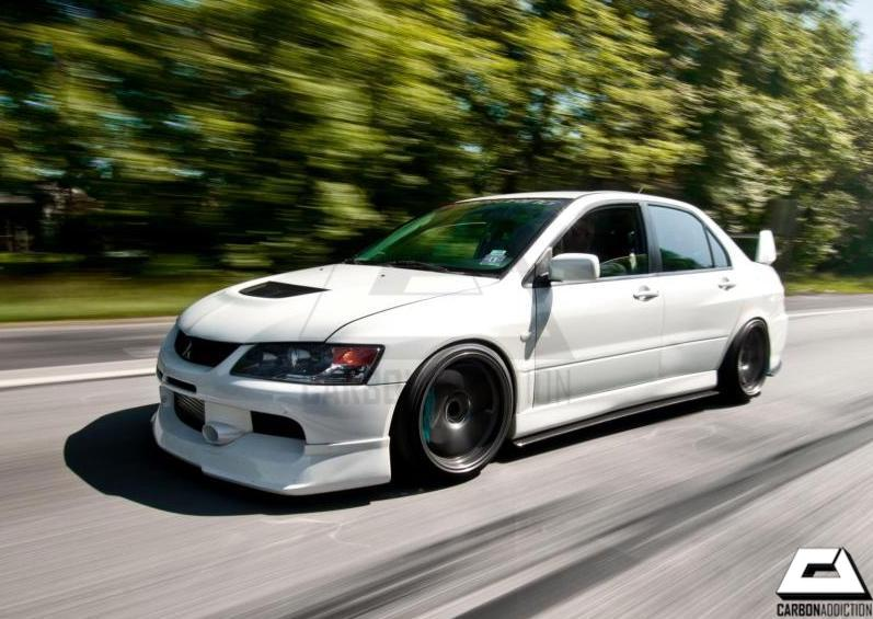 mitsubishi evo 9 greddy style carbon front lip carbon. Black Bedroom Furniture Sets. Home Design Ideas