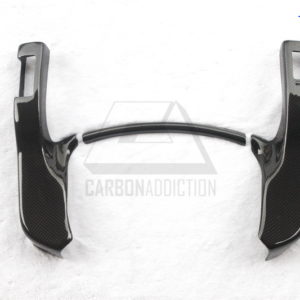 2008-2013 Nissan R35 GTR Instrument Surround Trim DCF 1&1 Plain Weave Glossy Finish (1)