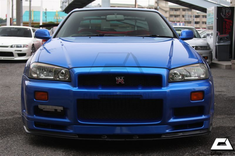 ... 1999 2002 Nissan Skyline R34 GTR OEM Front Bumper Nismo Style Bottom  Lip With Undertray