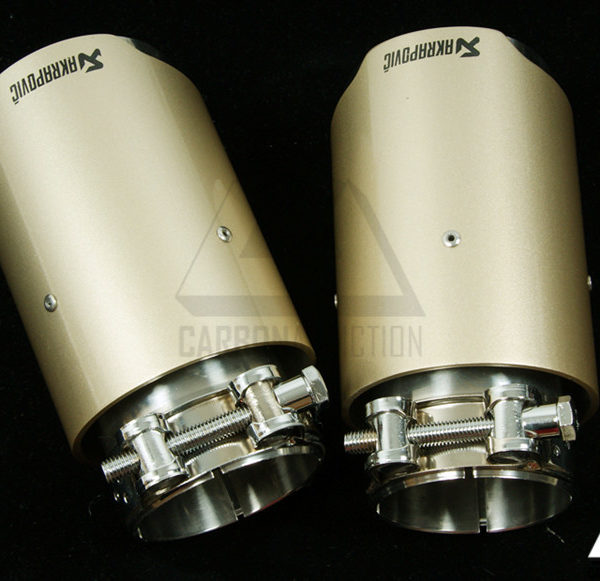 akrapovic style matte gold exhaust tips