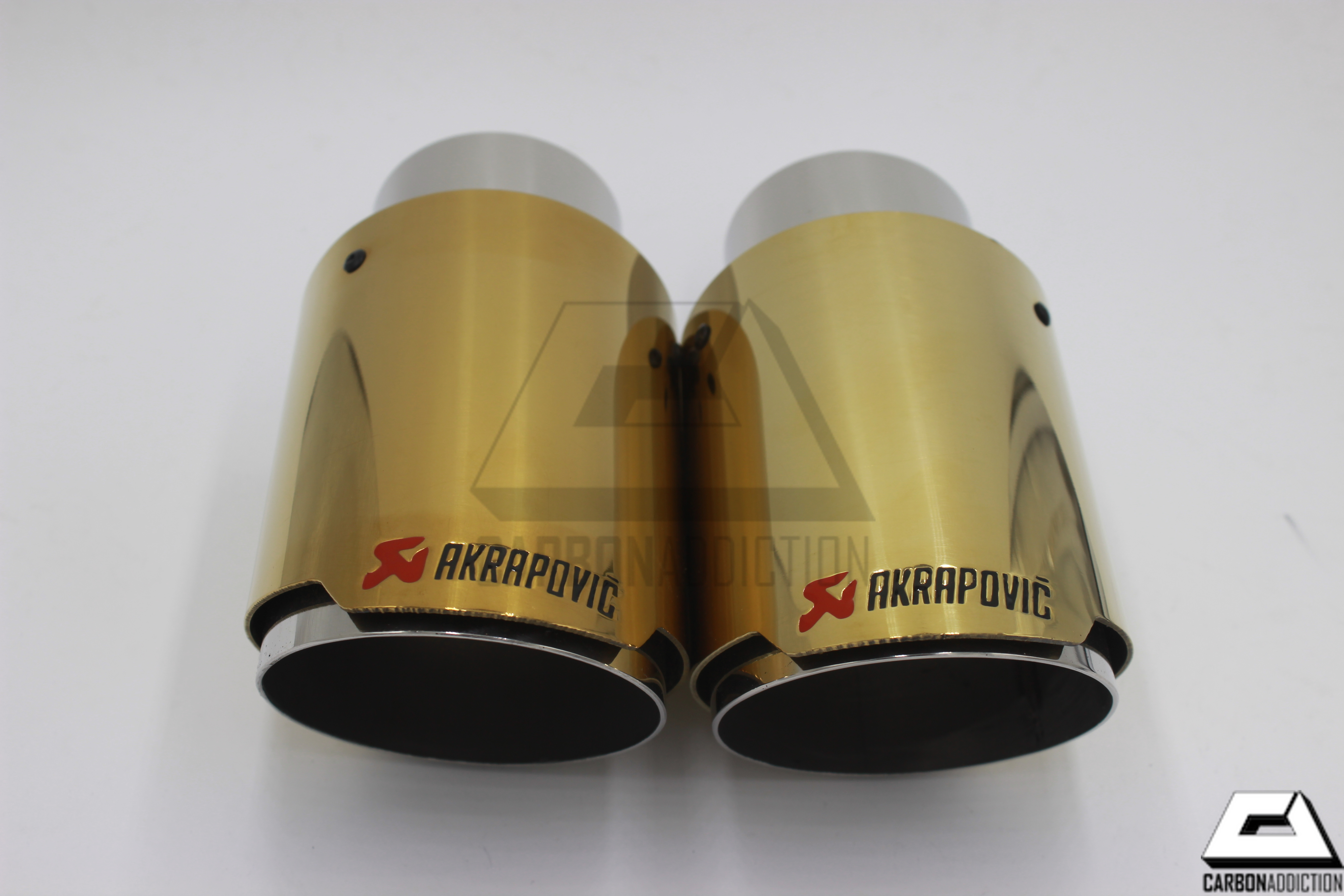 Akrapovic Style Gold Exhaust Tips – Carbon Addiction