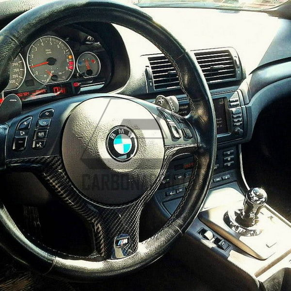 bmw e46 m3 carbon steering wheel trim carbon addiction. Black Bedroom Furniture Sets. Home Design Ideas