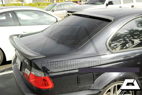BMW E46 Coupe CSL Style Carbon Trunk Add-On