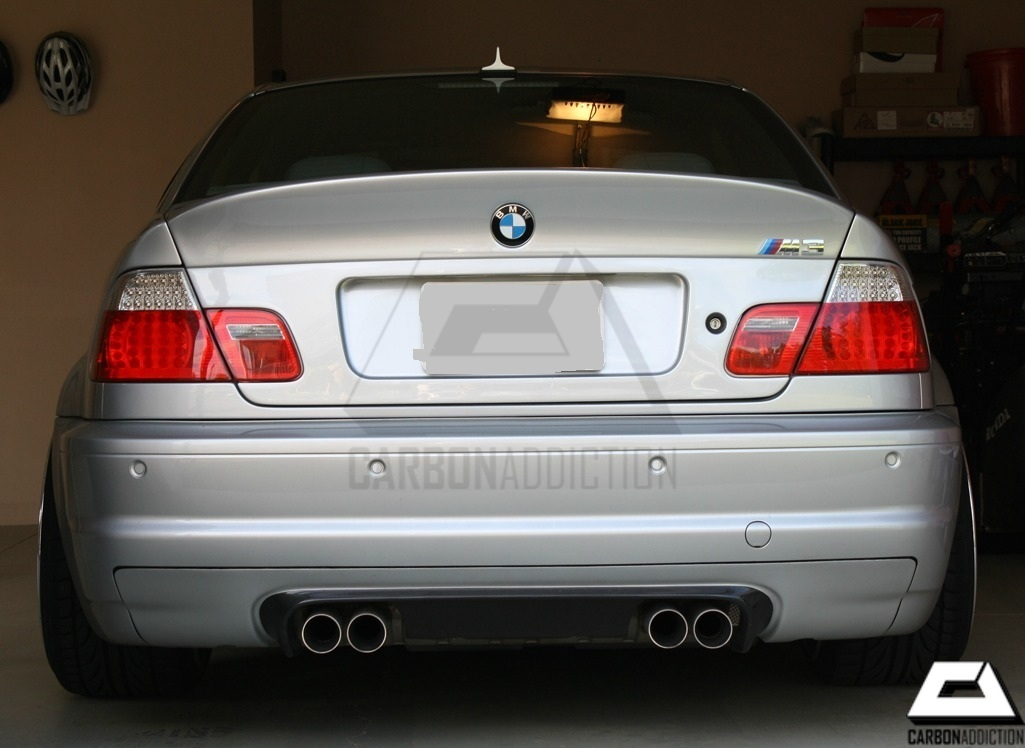 bmw e46 m3 csl style carbon rear diffuser carbon addiction. Black Bedroom Furniture Sets. Home Design Ideas