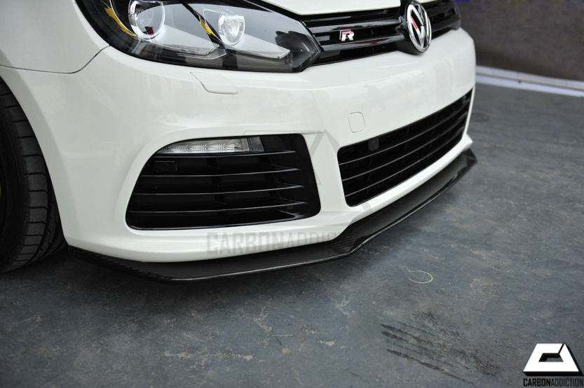 volkswagen golf  mk carbon front lip carbon addiction